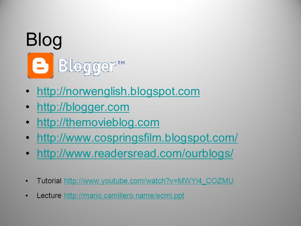 Blog http://norwenglish.blogspot.com http://blogger.com