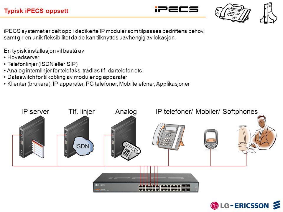 IP telefoner/ Mobiler/ Softphones