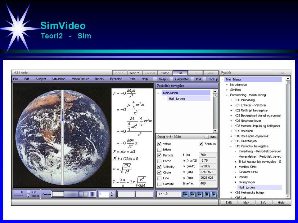SimVideo Teori2 - Sim Studier av svingninger (spesielt resonans)