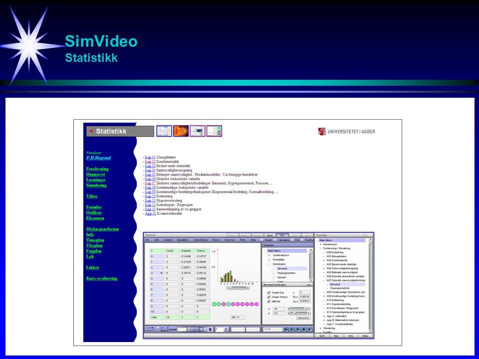 SimVideo Statistikk Studier av svingninger (spesielt resonans)