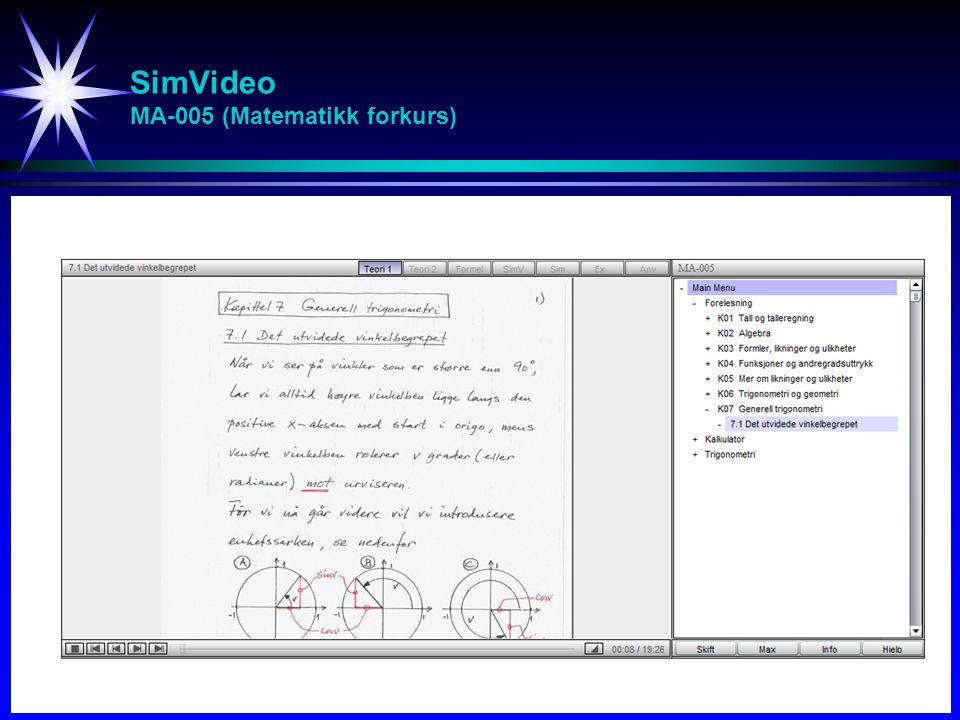 SimVideo MA-005 (Matematikk forkurs)
