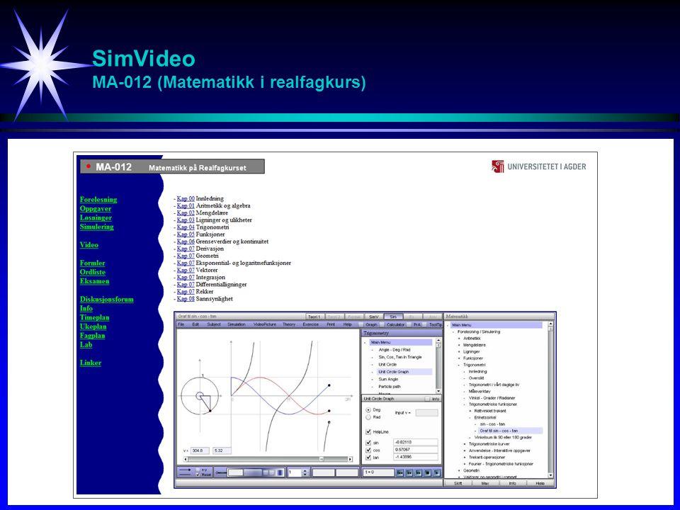 SimVideo MA-012 (Matematikk i realfagkurs)
