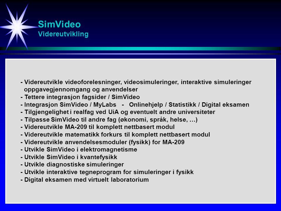 SimVideo Videreutvikling