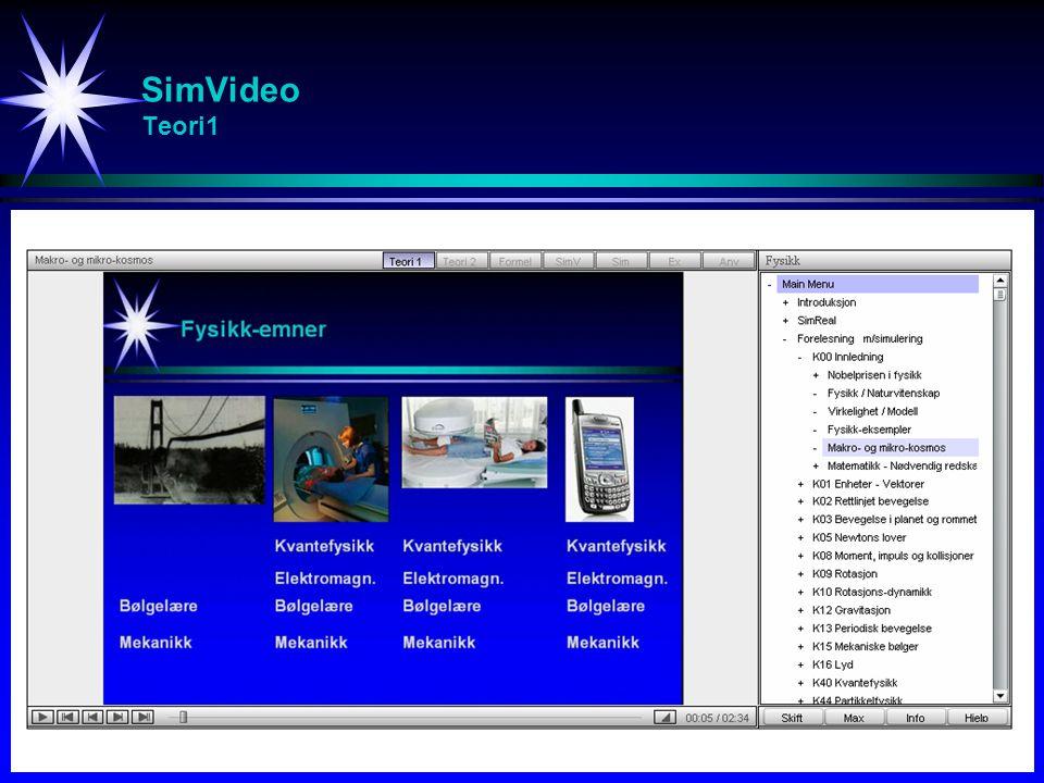 SimVideo Teori1 Studier av svingninger (spesielt resonans)