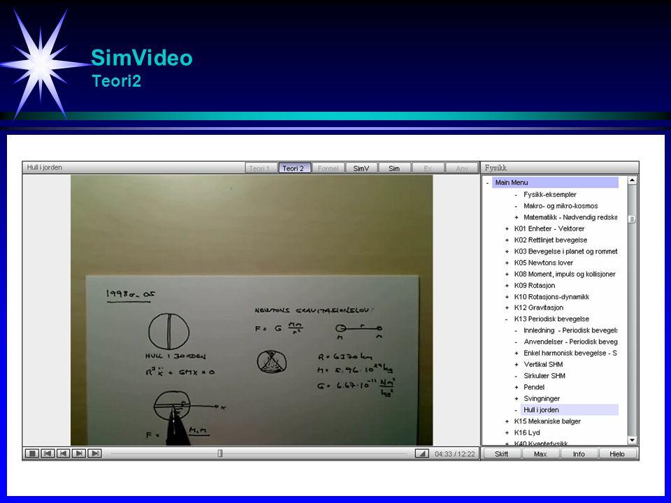 SimVideo Teori2 Studier av svingninger (spesielt resonans)