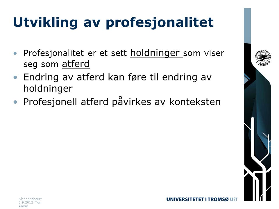 Utvikling av profesjonalitet