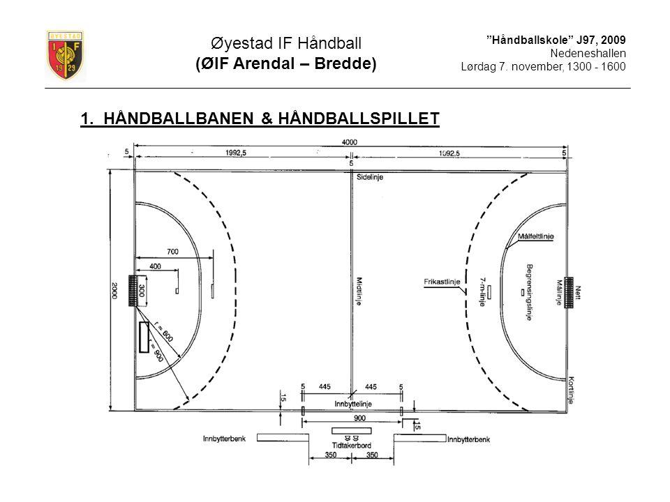 1. HÅNDBALLBANEN & HÅNDBALLSPILLET
