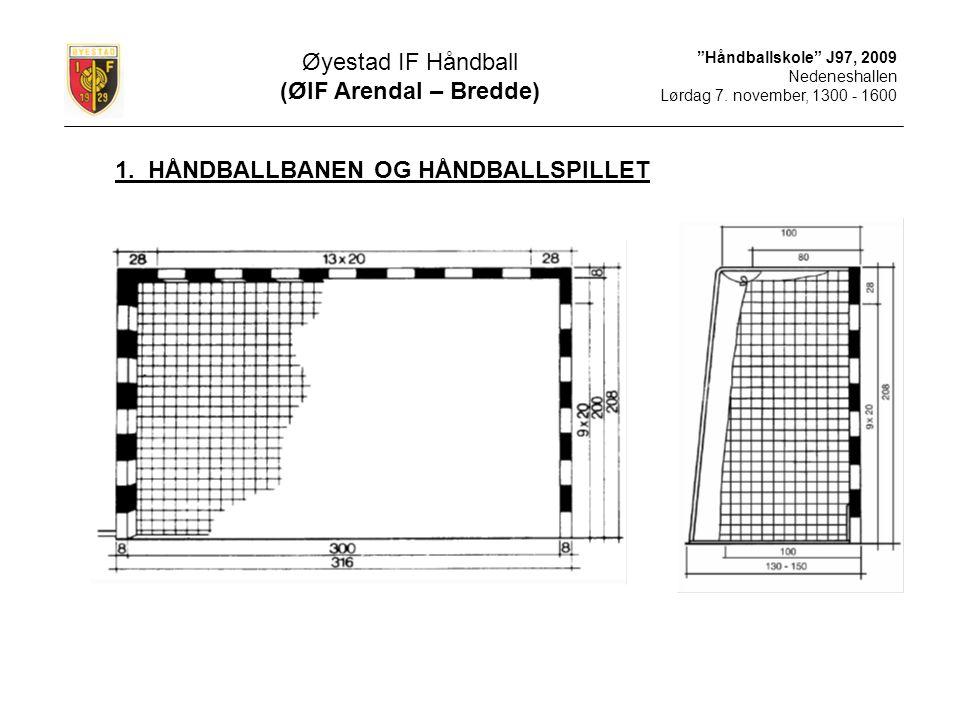 1. HÅNDBALLBANEN OG HÅNDBALLSPILLET
