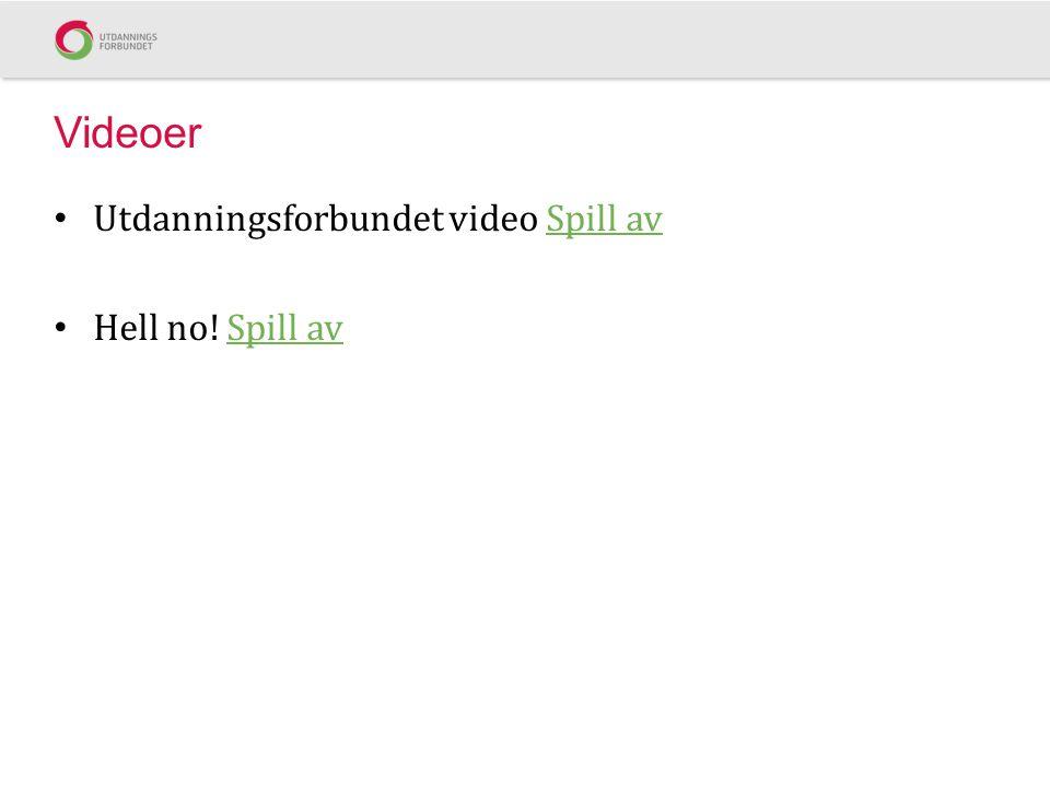 Videoer Utdanningsforbundet video Spill av Hell no! Spill av
