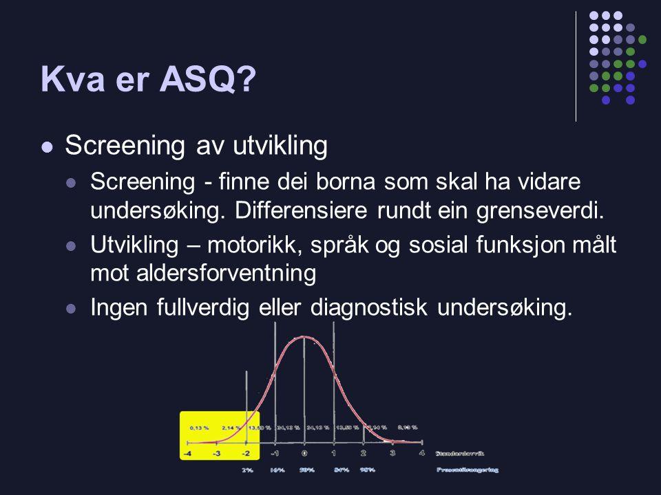Kva er ASQ Screening av utvikling