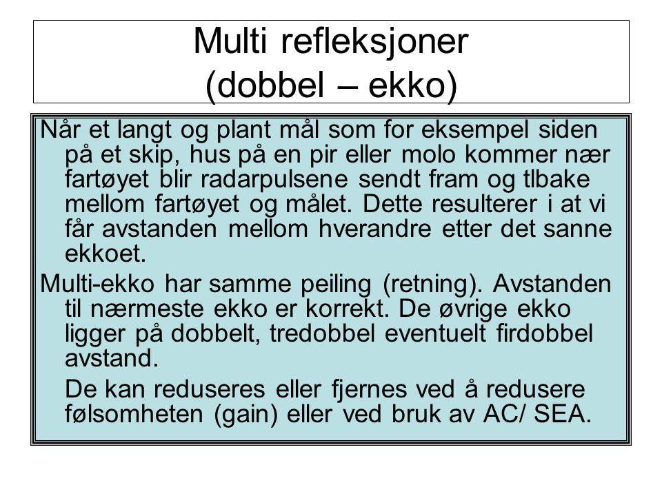 Multi refleksjoner (dobbel – ekko)