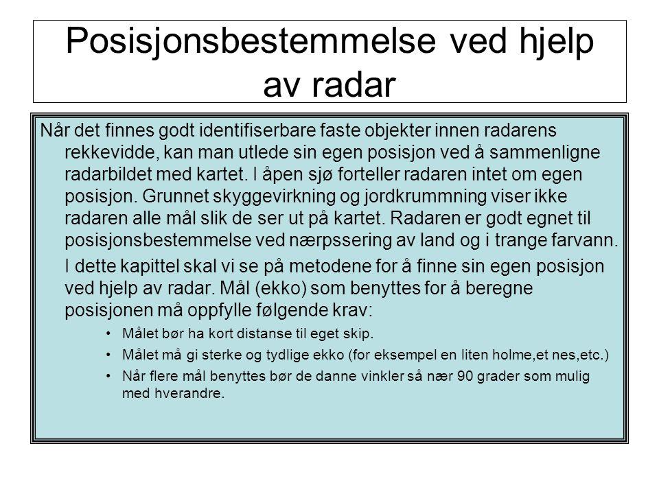 Posisjonsbestemmelse ved hjelp av radar