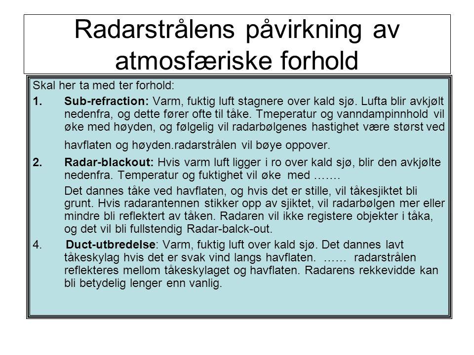 Radarstrålens påvirkning av atmosfæriske forhold