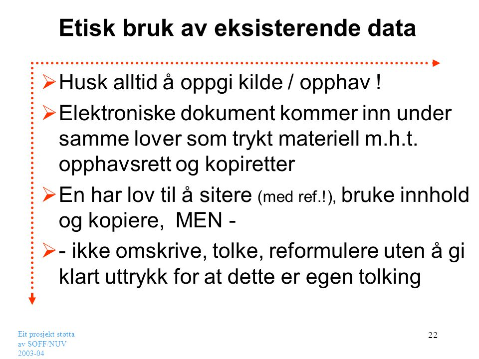 Etisk bruk av eksisterende data