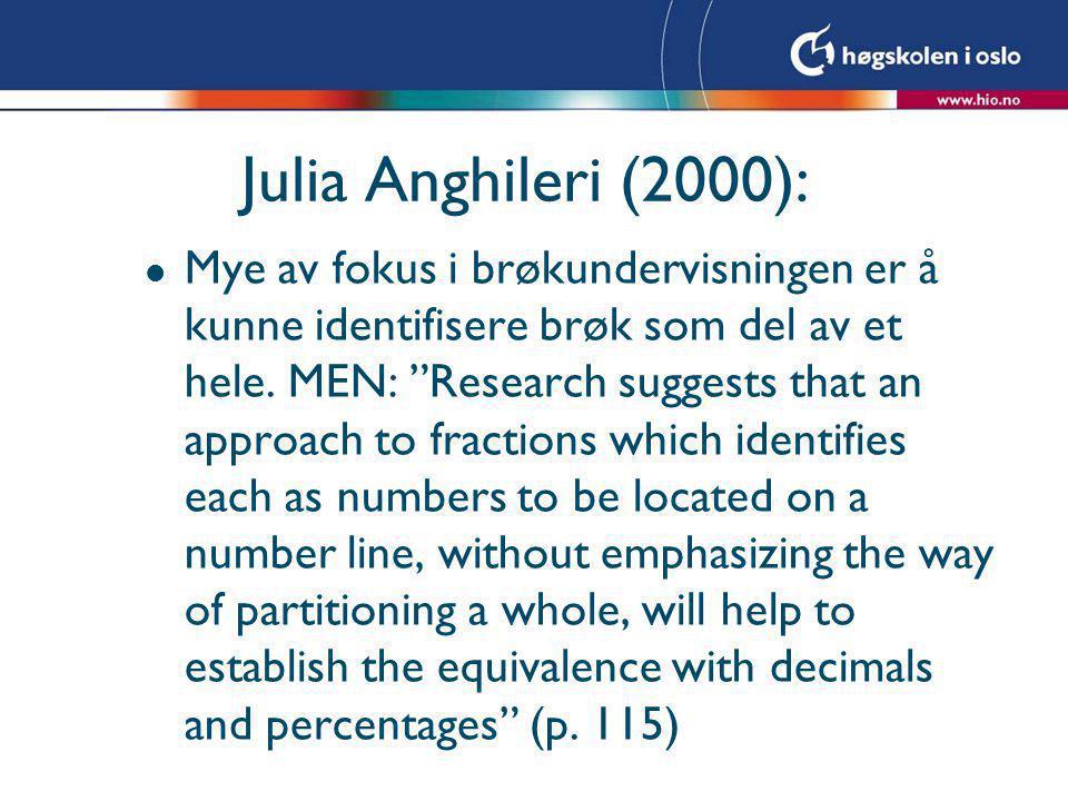 Julia Anghileri (2000):
