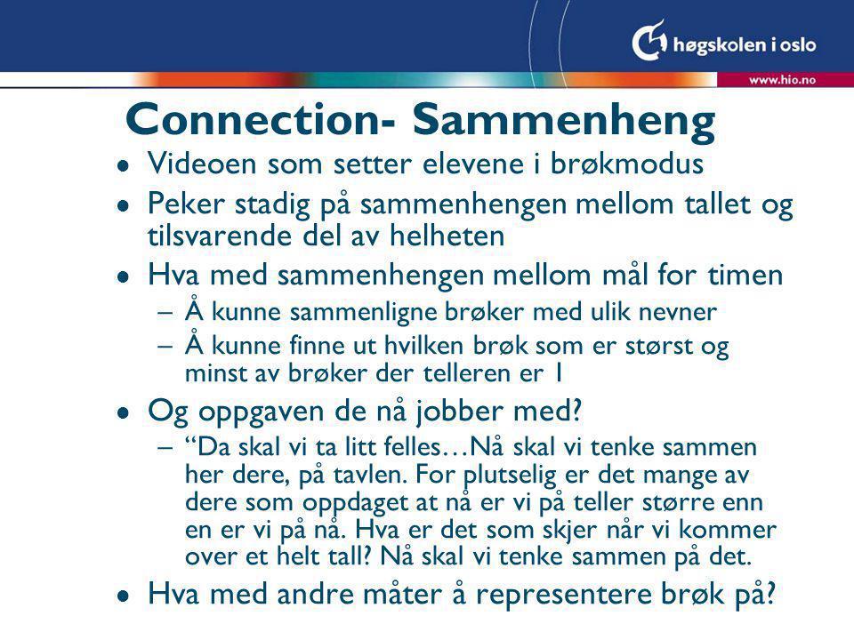 Connection- Sammenheng