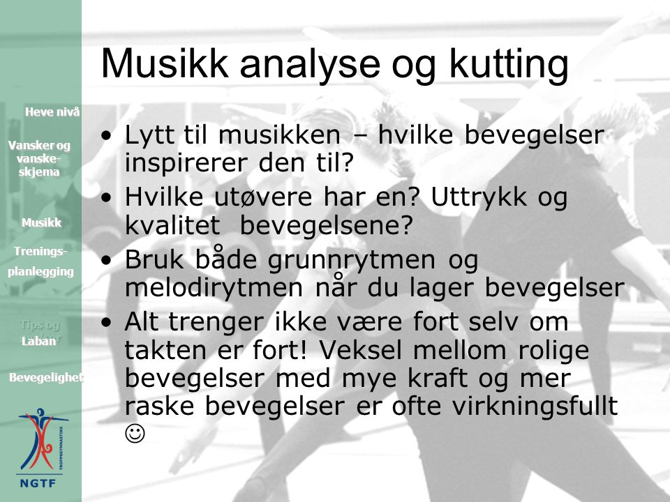 Musikk analyse og kutting