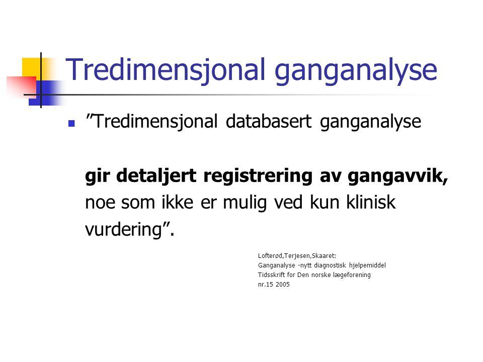 Tredimensjonal ganganalyse