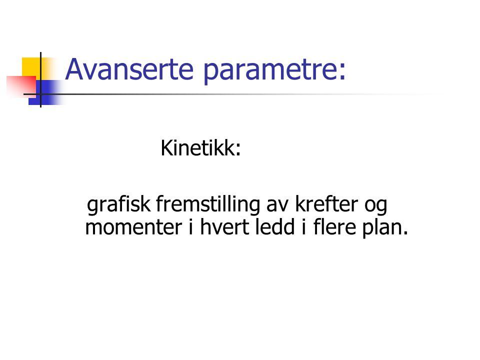 Avanserte parametre: Kinetikk: