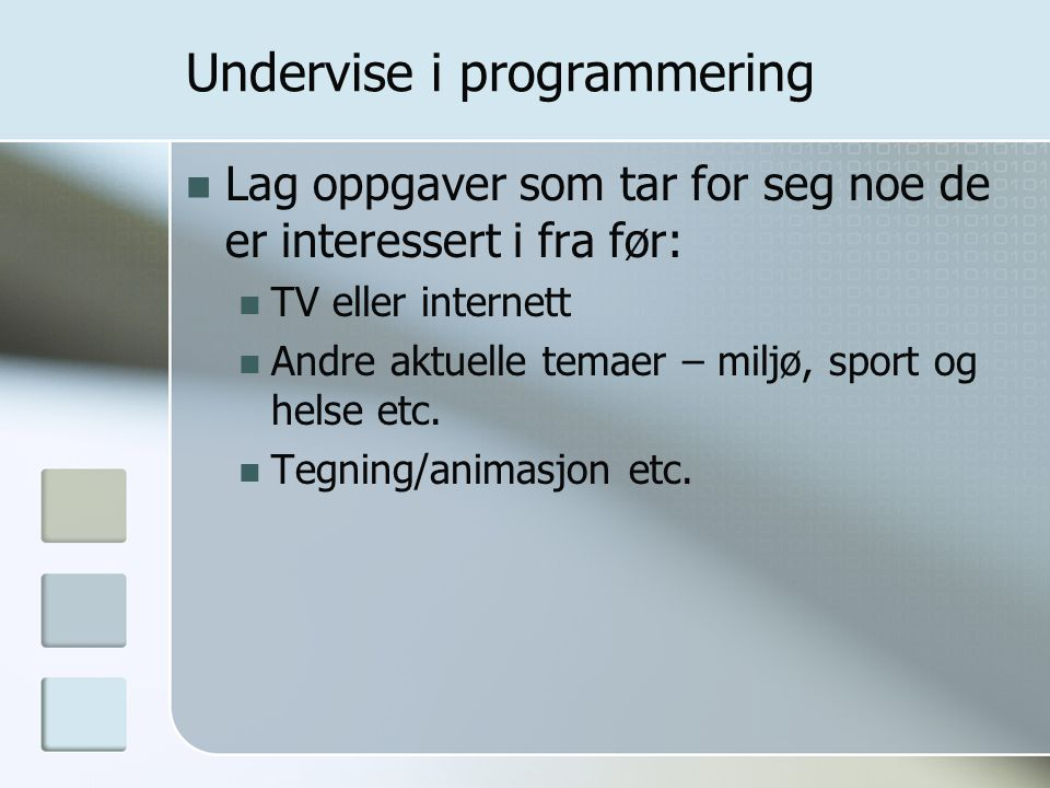 Undervise i programmering