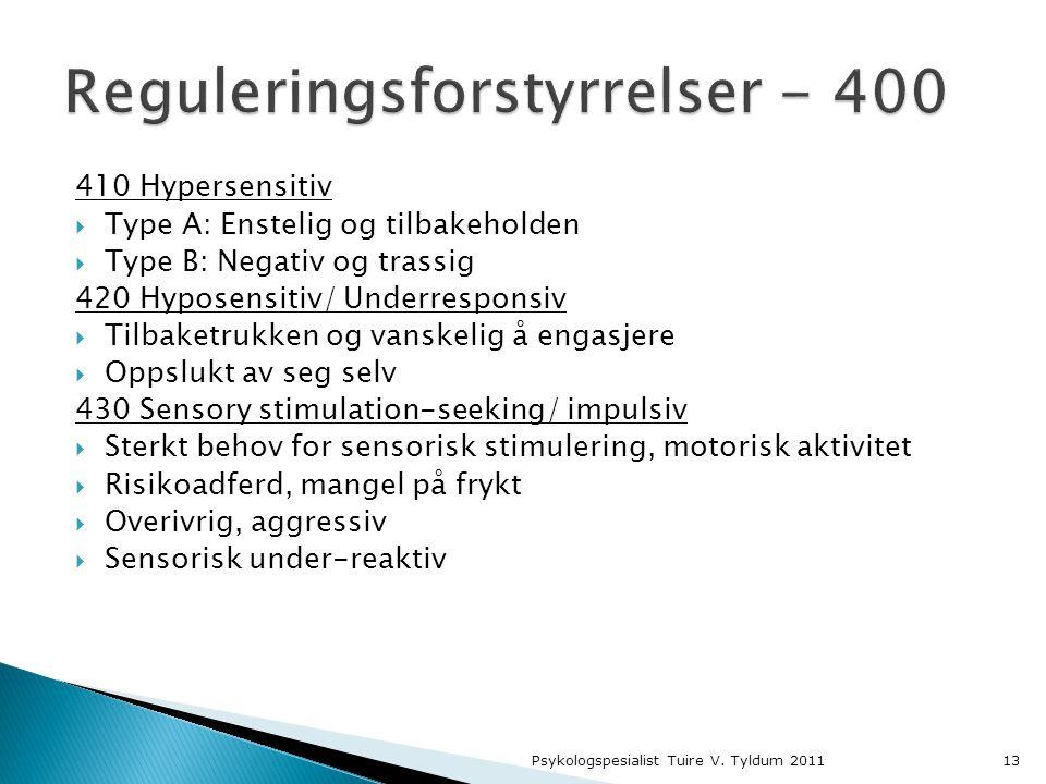 Reguleringsforstyrrelser - 400
