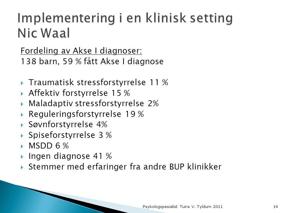 Implementering i en klinisk setting Nic Waal