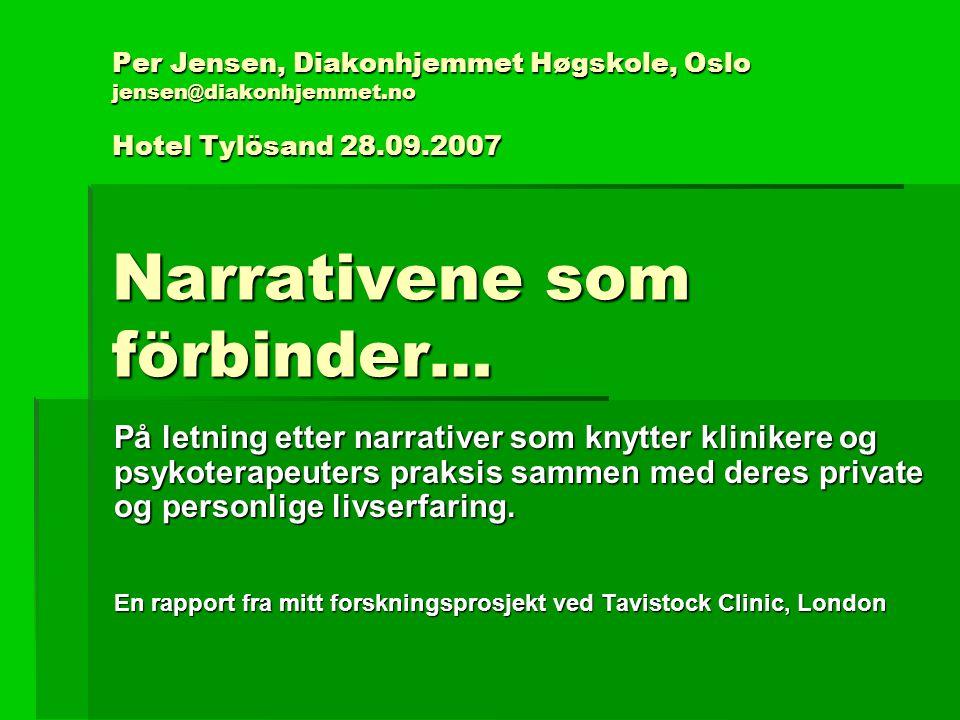 Per Jensen, Diakonhjemmet Høgskole, Oslo jensen@diakonhjemmet