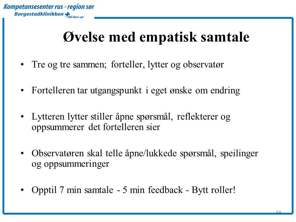 Øvelse med empatisk samtale