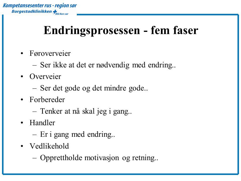 Endringsprosessen - fem faser