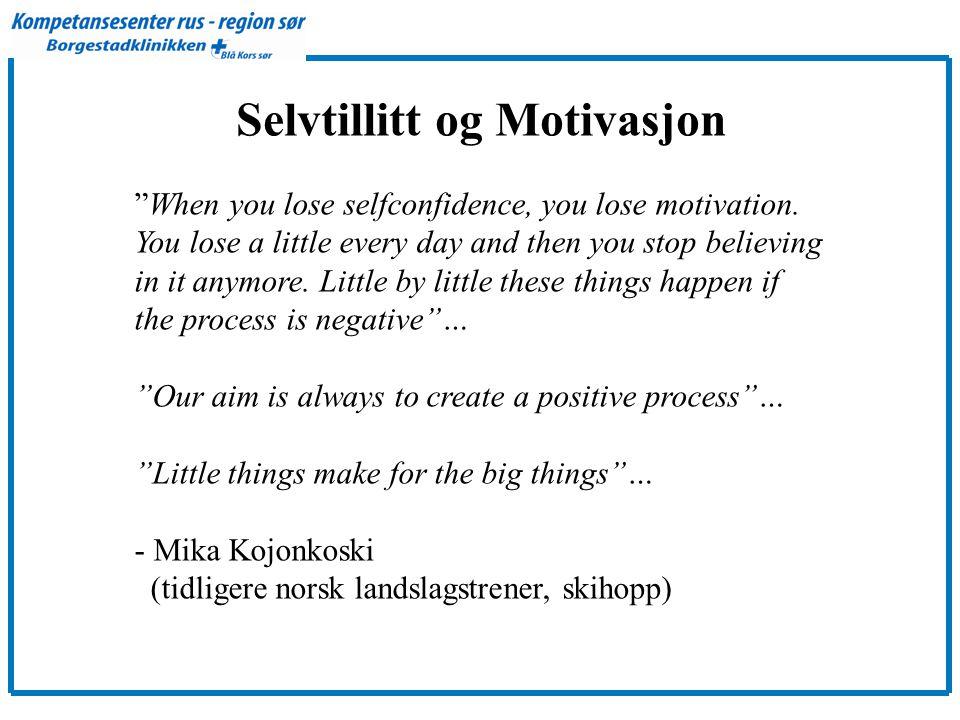 Selvtillitt og Motivasjon