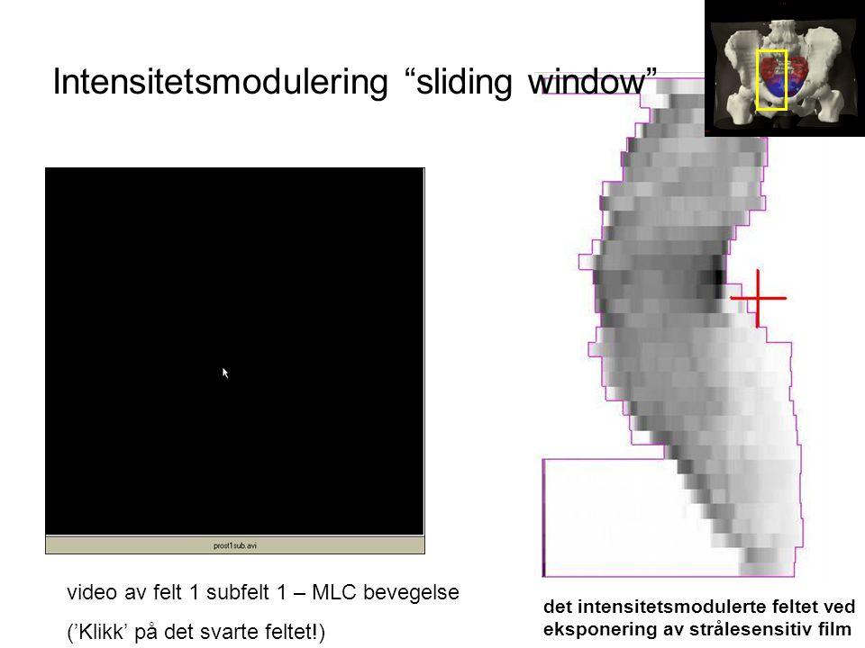 Intensitetsmodulering sliding window