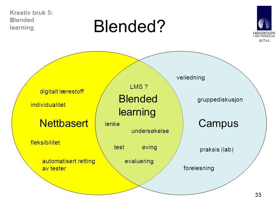 Blended Nettbasert Campus Blended learning