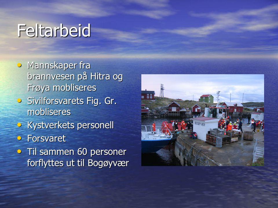 Feltarbeid Mannskaper fra brannvesen på Hitra og Frøya mobliseres