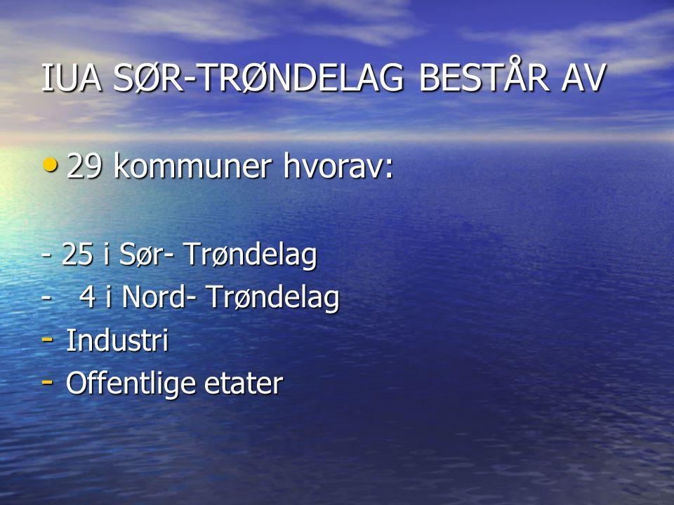 IUA SØR-TRØNDELAG BESTÅR AV