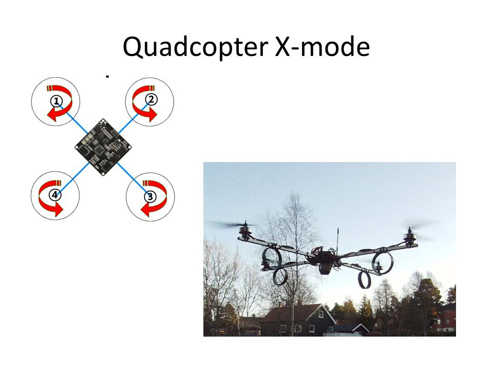 Quadcopter X-mode