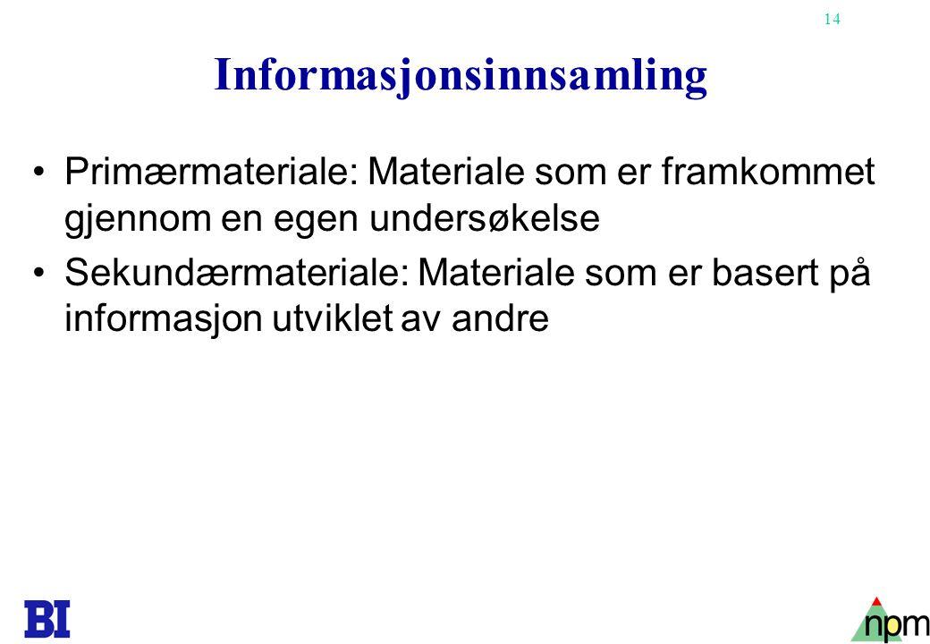 Informasjonsinnsamling