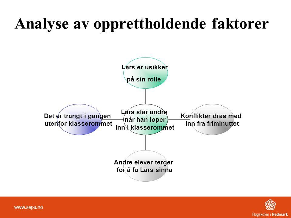 Analyse av opprettholdende faktorer
