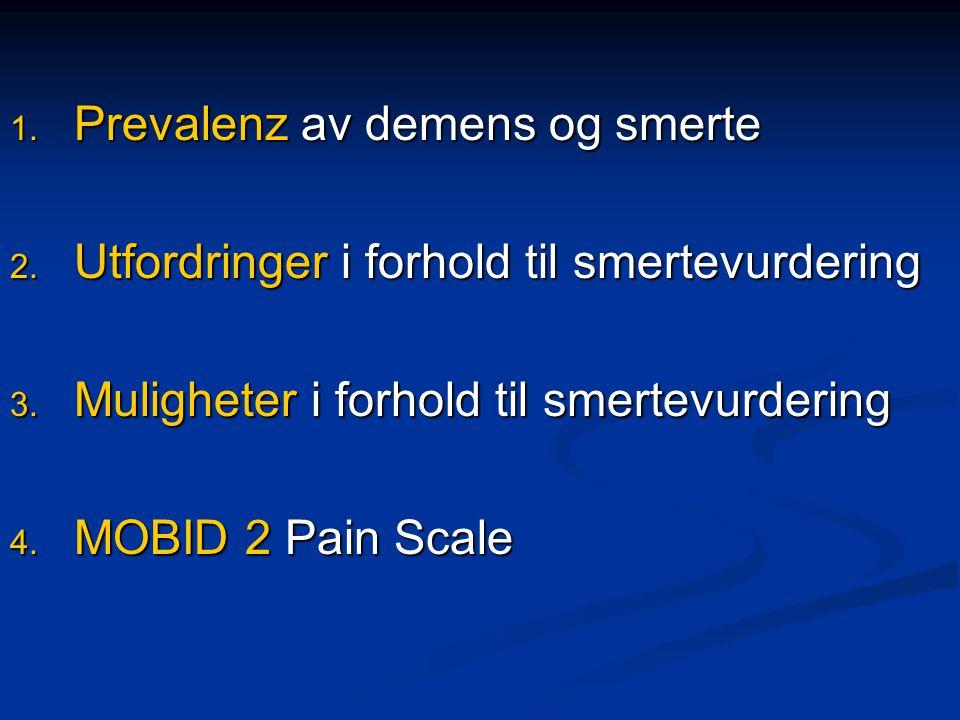 Prevalenz av demens og smerte