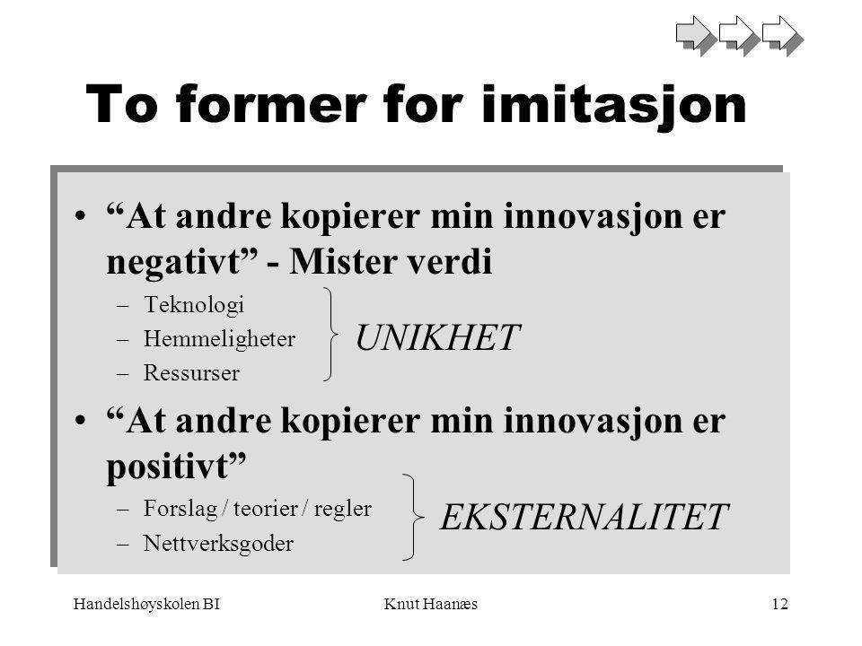 To former for imitasjon