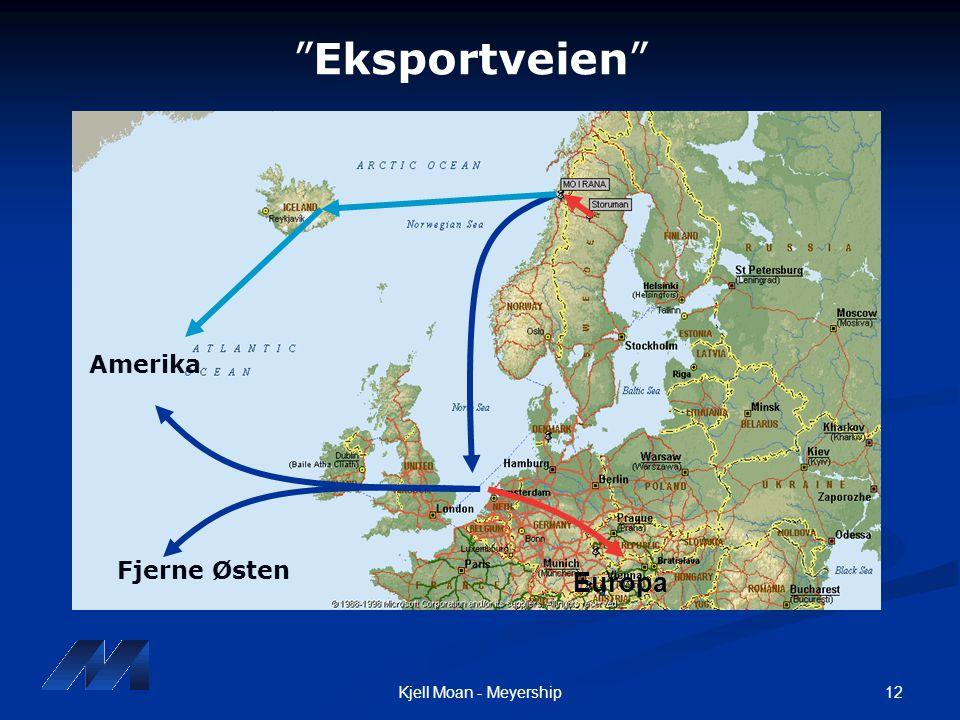 Eksportveien Amerika Fjerne Østen Europa Kjell Moan - Meyership