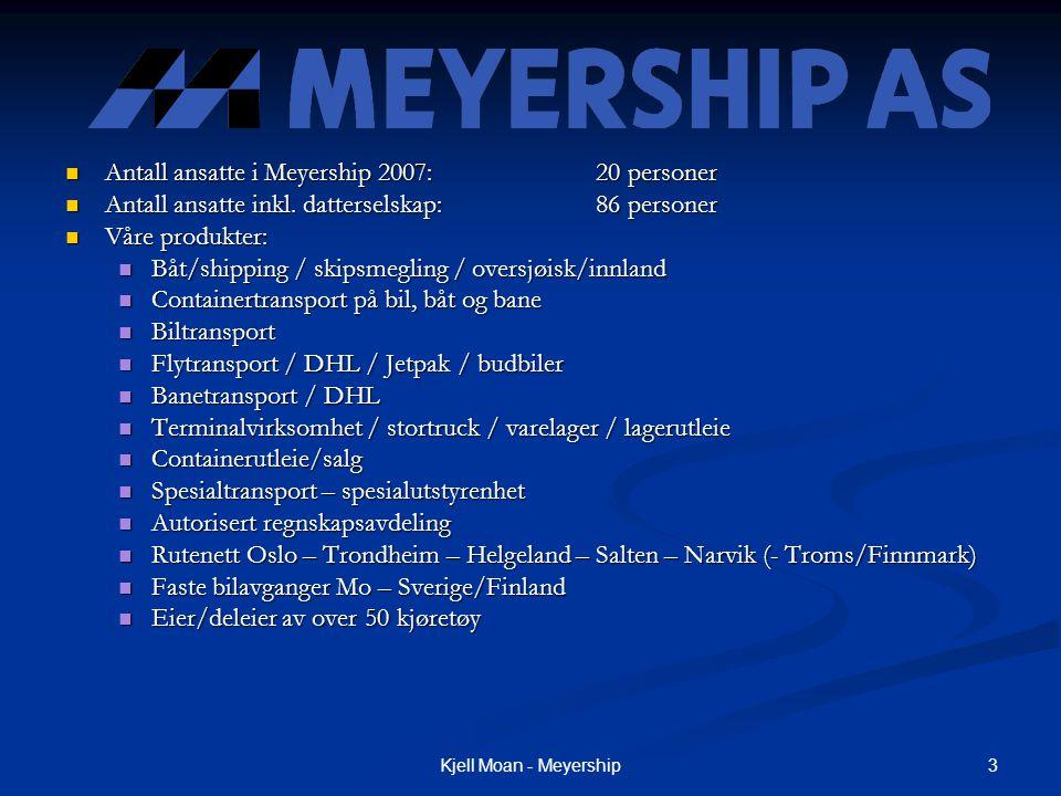 Antall ansatte i Meyership 2007: 20 personer