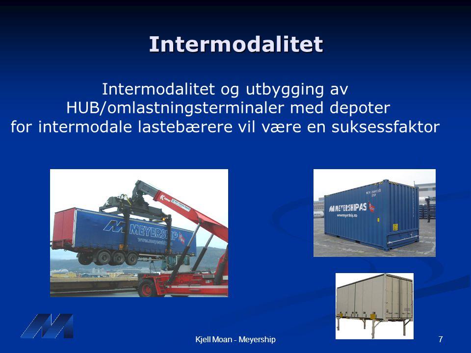 Intermodalitet Intermodalitet og utbygging av