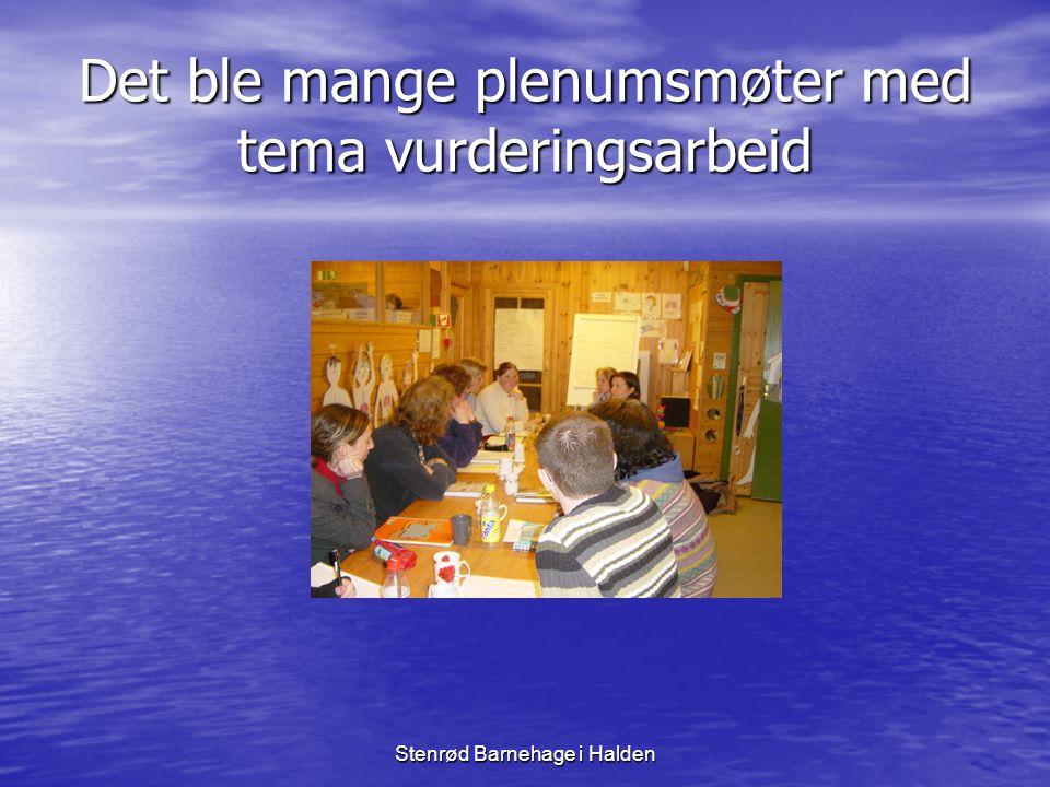 Det ble mange plenumsmøter med tema vurderingsarbeid