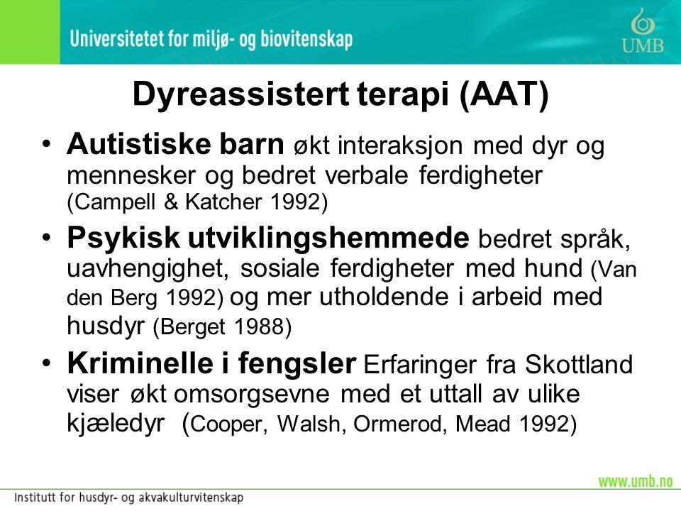 Dyreassistert terapi (AAT)