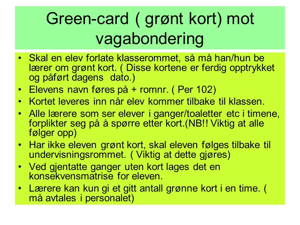 Green-card ( grønt kort) mot vagabondering