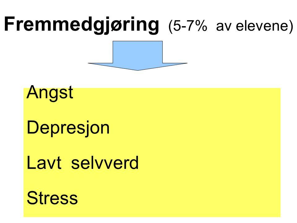 Fremmedgjøring (5-7% av elevene)