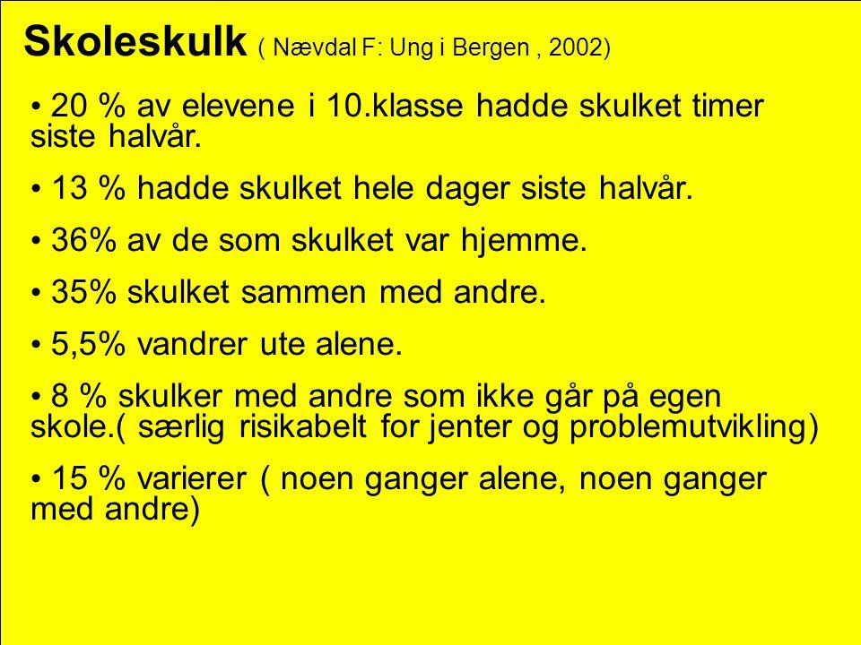 Skoleskulk ( Nævdal F: Ung i Bergen , 2002)
