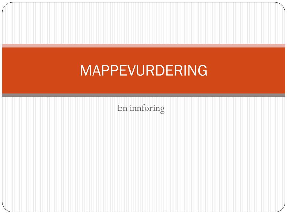 MAPPEVURDERING En innføring