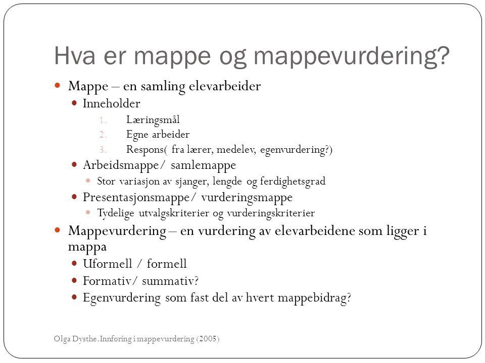 Hva er mappe og mappevurdering