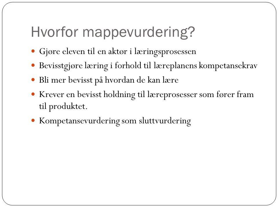 Hvorfor mappevurdering